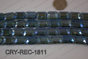 Angelic Crystal Rectangle Faceted 13x18mm CRY-REC-1811