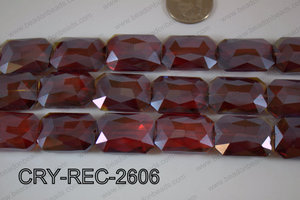 Angelic Crystal Rectangle Faceted 18x26mm CRY-REC-2606