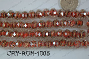 Lampwork Rondel 12mm CRY-RON-1005