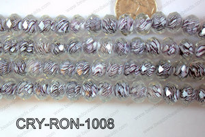 Lampwork Rondel 12mm CRY-RON-1008