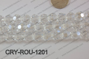 Angelic Crystal Round Faceted 32cut 12mm CRY-ROU-1201