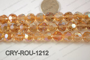 Angelic Crystal Round Faceted 32cut 12mm CRY-ROU-1212