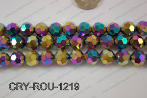 Angelic Crystal Round Faceted 32cut 12mm CRY-ROU-1219