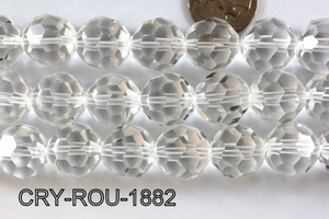 Angelic Crystal Faceted Round 18mm 32Cut Clear 14'' CRY-ROU-1882