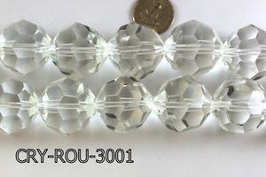 Angelic Crystal Faceted Round 30mm Clear 14'' CRY-ROU-3001