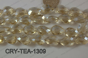 Angelic Crystal Teardrop Flat 13x18mm CRY-TEA-1309