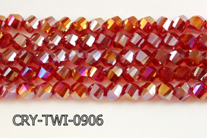 Angelic Crystal Faceted Twisted 9x10mm CRY-TWI-0906