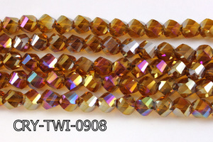 Angelic Crystal Faceted Twisted 9x10mm CRY-TWI-0908