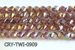 Angelic Crystal Faceted Twisted 9x10mm CRY-TWI-0909