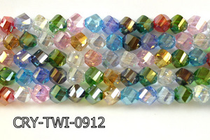 Angelic Crystal Faceted Twisted 9x10mm CRY-TWI-0912