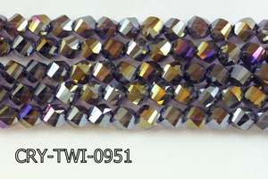 Angelic Crystal Faceted Twisted 9x10mm CRY-TWI-0951