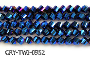 Angelic Crystal Faceted Twisted 9x10mm CRY-TWI-0952