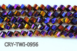 Angelic Crystal Faceted Twisted 9x10mm CRY-TWI-0956