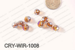 Wired Crystal Rondel 10mm Brown AB CRY-WIR-1008