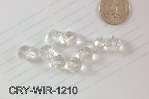 Wired Crystal Rondel 12mm Clear CRY-WIR-1210