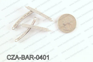 CZ  Micro Pave Bar 4x35 MM CZA-BAR-0401