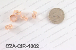 CZ Circle Micro Pave Bead 10MM CZA-CIR-1002
