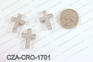 CZ Cross Micro Pave Bead 17x23MM CZA-CRO-1701