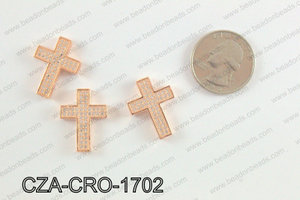 CZ Cross Micro Pave Bead 17x23MM CZA-CRO-1702