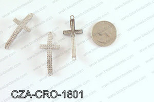 CZ Cross Micro Pave Connector 18 x42MM CZA-CRO-1801
