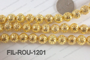 Base Metal Filligree Round Gold 12mm FIL-ROU-1201