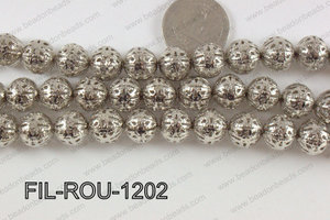 Base Metal Filligree Round Anti Silver 12mm FIL-ROU-1202