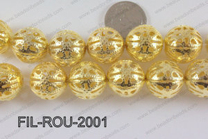 Base Metal Filligree Round Gold 20mm FIL-ROU-2001