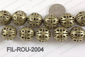 Base Metal Filligree Round Bronze 20mm FIL-ROU-2004