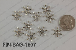 Finding Bead 250g Bag 15x15mm FIN-BAG-1507