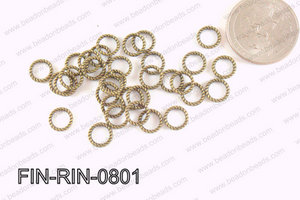 Decorative Ring Bronze 8mm FIN-RIN-0801