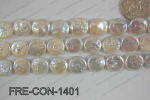 Freshwater Pearl Coin White 13-14mm FRE-CON-1401