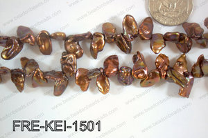Freshwater Pearl Keishi Brown 13-15mm FRE-KEI-1501