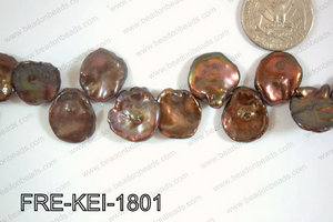 Freshwater Pearl Keishi Brown 16-18mm FRE-KEI-1801