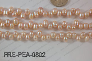 Freshwater Pearl Pink 6x8mm FRE-PEA-0802