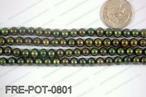 Freshwater Pearl Potato Green  7-8mm FRE-POT-0801