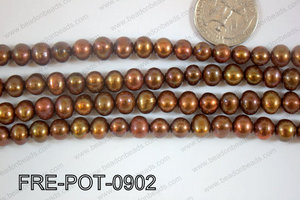 Freshwater Pearl Potato Brown 8-9mm FRE-POT-0902