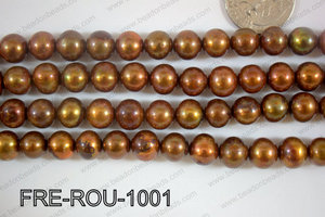 Freshwater Pearl Round Brown 10mm FRE-ROU-1001