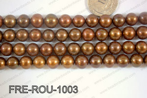 Freshwater Pearl Round Brown 10mm FRE-ROU-1003