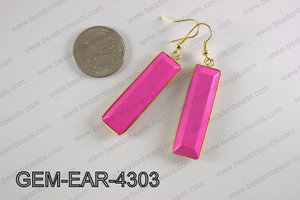 rectangle earring GEM-EAR-4303