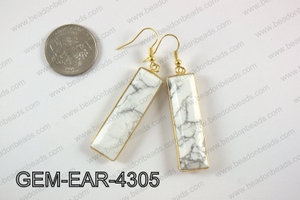 rectangle earring GEM-EAR-4305