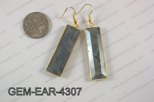 rectangle earring GEM-EAR-4307