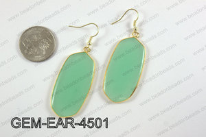 oval earring GEM-EAR-4501