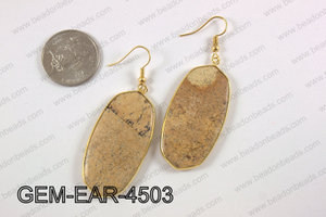 oval earring GEM-EAR-4503