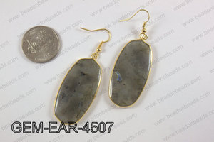 oval earring GEM-EAR-4507