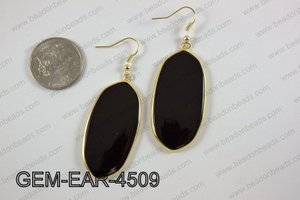 oval earring GEM-EAR-4509