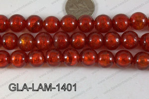 Glass Lampwork Red 14mm GLA-LAM-1401