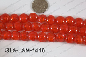 Glass Lampwork Coin Red 14mm GLA-LAM-1416