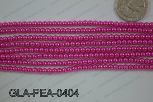 Glass Pearl Round 4mm Dark pink GLA-PEA-0404