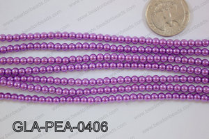 Glass Pearl Round 4mm Purple GLA-PEA-0406