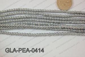 Glass Pearl Round 4mm Grey GLA-PEA-0414
